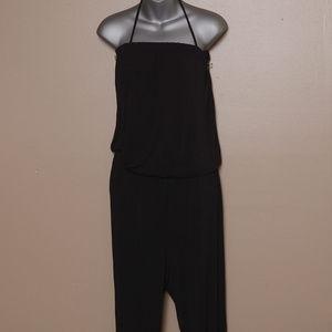 Cabi XL Black Jersey Knit Jumpsuit  (ee23)